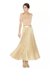 Alice + Olivia Isabel Marant Lela Rose Chloe Elizabeth And James Valentino Maxi Skirt Gold