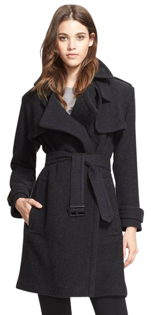Preload https://img-static.tradesy.com/item/21857451/burberry-london-gray-cozy-cashmere-wrap-trench-charcoal-size-4-s-0-1-650-650.jpg