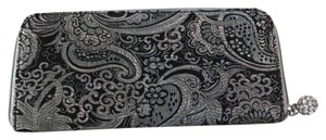 White House | Black Market black and silver Clutch