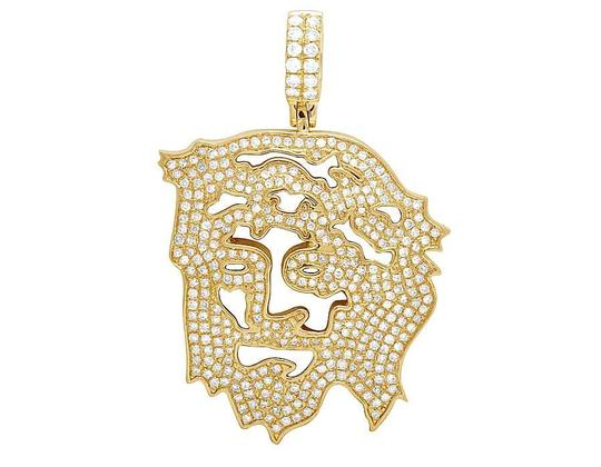 Preload https://img-static.tradesy.com/item/21857574/jewelry-unlimited-14k-yellow-gold-diamond-cutout-jesus-face-pendant-225-ct-2-inch-charm-0-0-540-540.jpg