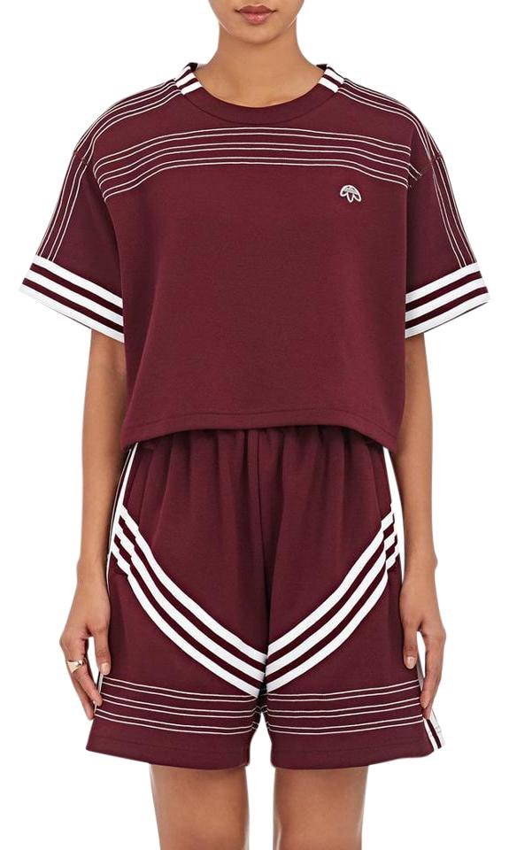 outlet on sale watch hot products Alexander Wang Burgundy Jersey X Adidas Crop Tee Shirt Size 0 (XS)