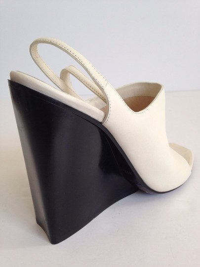 CoSTUME NATIONAL Wedge White Sandals