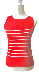 Zara red and white Halter Top