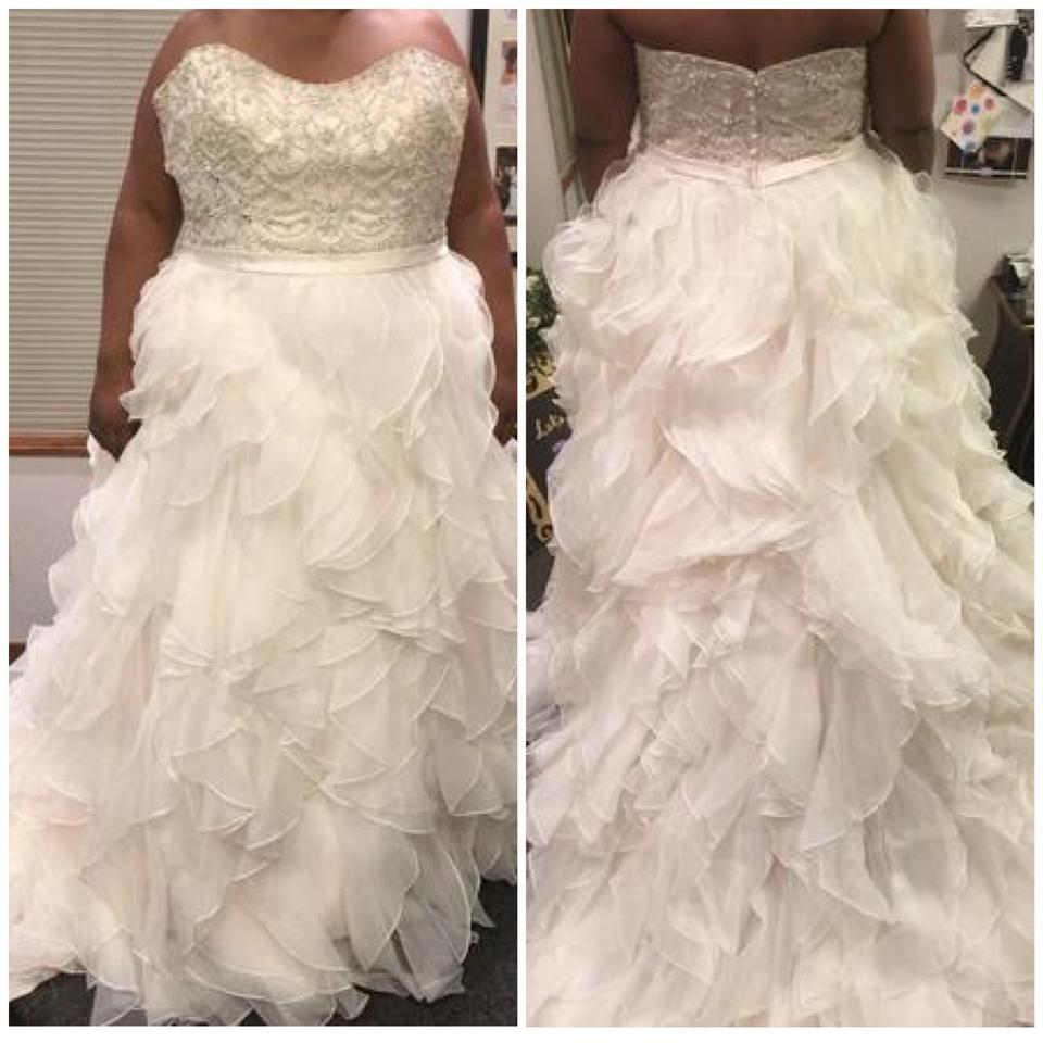Allure bridals wedding dresses more up to 70 off at tradesy allure bridals light goldsilver organza size 30 9110 ltg ombrellifo Image collections