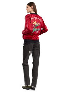 Opening Ceremony Silk Bomber Silk Bomber Embroidered Sold Out Red Jacket