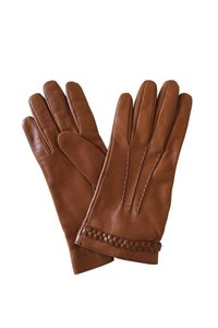 Gucci GUCCI Women's Brown Leather Gloves New w/o tag