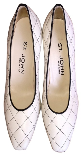 Item - Ivory Quilt Leather Pumps Size US 7 Narrow (Aa, N)