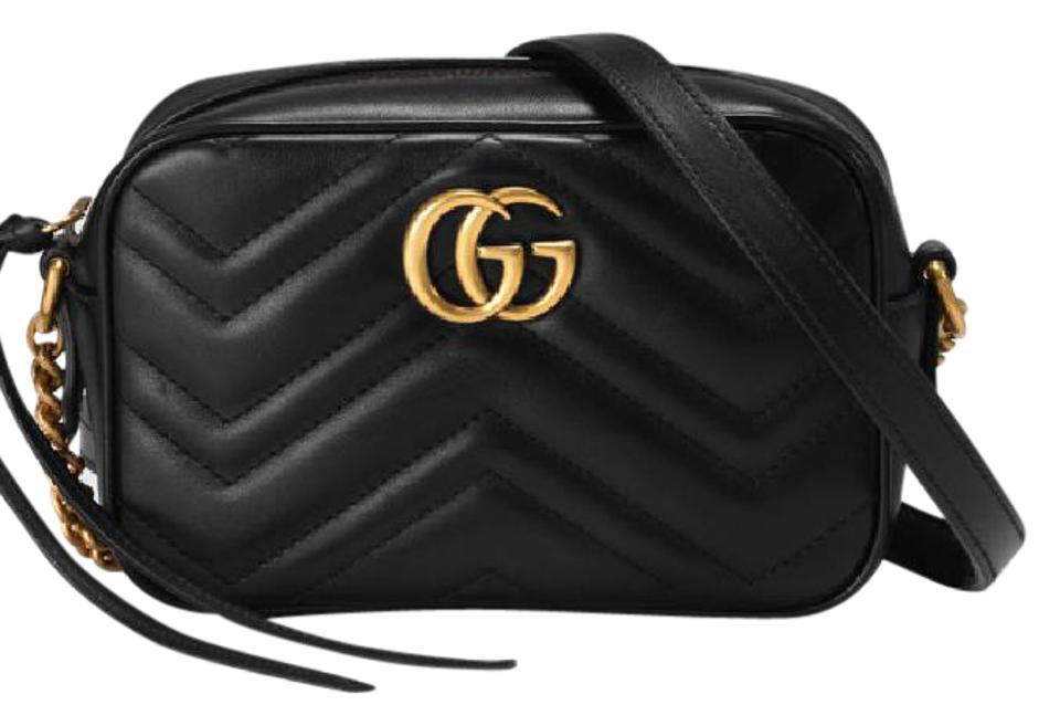 Gucci Leather Gold Hardware Chain Quilted Sweetheart Shoulder Bag Image 0  ... 998d478811379