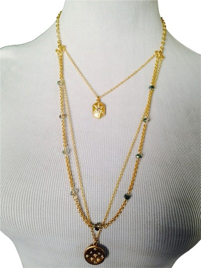 Preload https://item1.tradesy.com/images/goldgreen-gold-tone-3-strand-crystal-charm-necklace-2185890-0-0.jpg?width=440&height=440