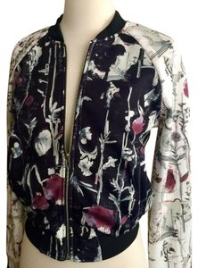 Jealous Tomato Black / flowers prints Blazer