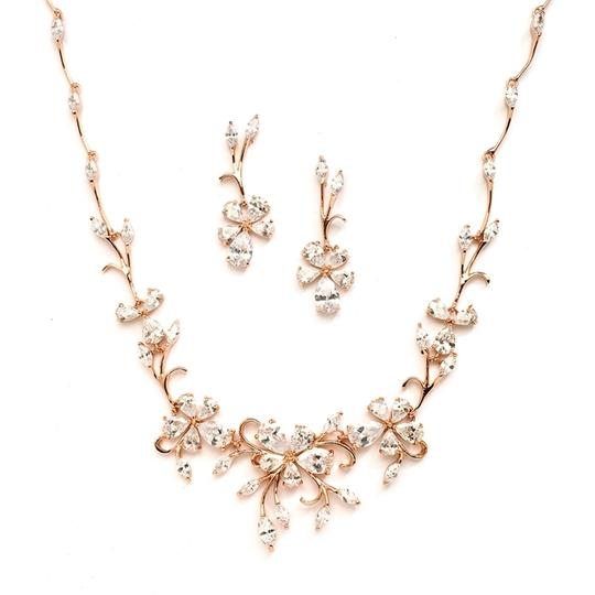 Mariell Rose Gold Crystal Jewelry Sets