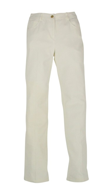 Item - White Yellow Label Marie Twill Stretch Pants Straight Leg Jeans Size 24 (0, XS)