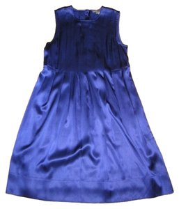 Vince Silk Pleated Classic Dress