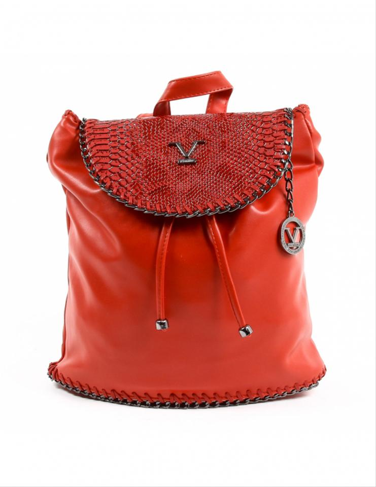 08040a71b269 Versace 19.69 Designer Women Ve019 Red Synthetic Leather Backpack ...