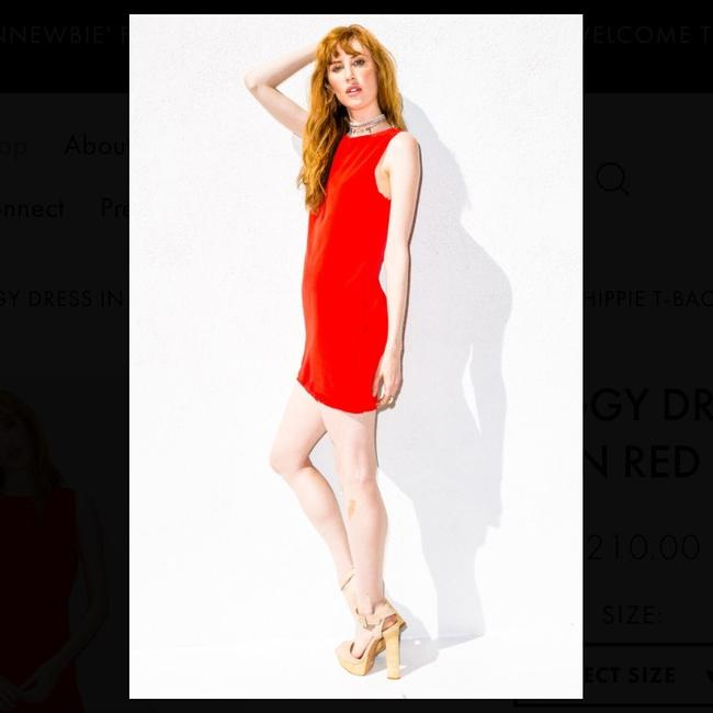 Naven short dress Red on Tradesy
