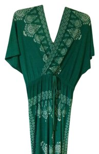 Green and white Maxi Dress by Just Love