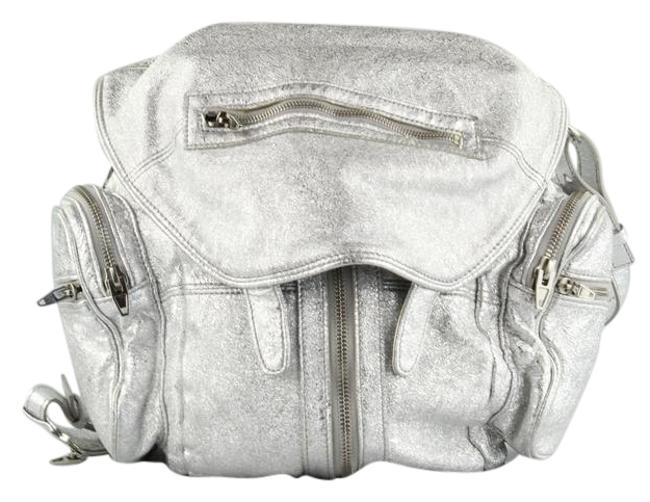 Item - Marti Silver Leather Backpack