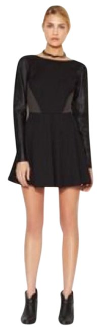 Preload https://item1.tradesy.com/images/stella-and-jamie-black-rio-leather-sleeve-mix-media-short-cocktail-dress-size-4-s-21860620-0-1.jpg?width=400&height=650