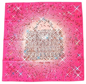 Hermès Hermes Magic Kelly Pink Silk Scarf 90cm designed by Dimitri Rybaltchenko