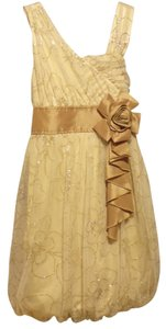 My Michelle (GIRL'S) short dress Antique gold Satin Wedding Ring Girl Party Easter Birthday on Tradesy