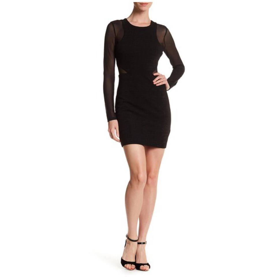 guess black cocktail dress