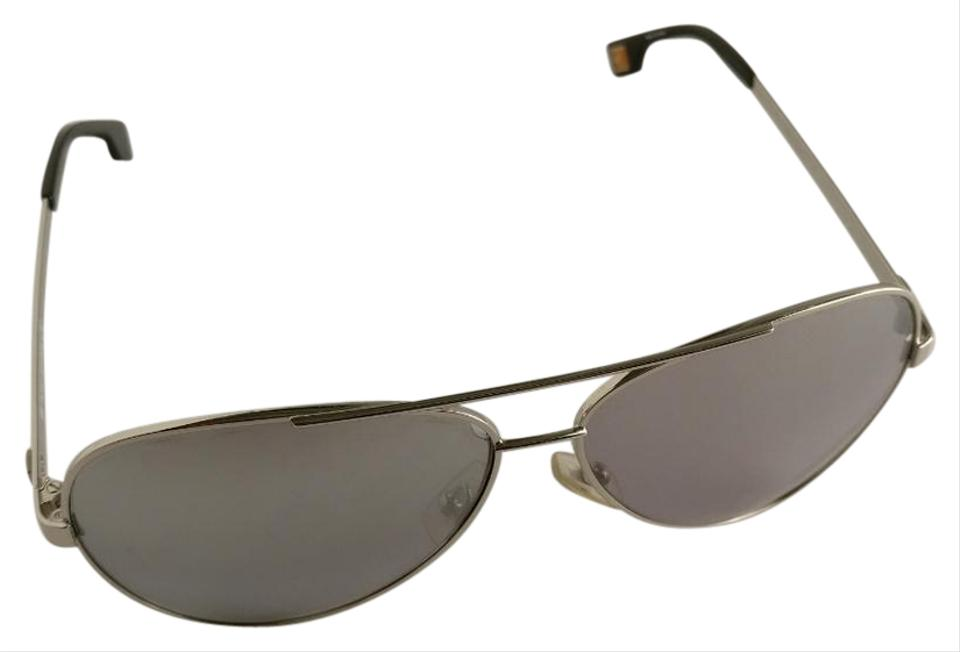 0a2b917a666 Hugo Boss Gray Silver Metal Orange Collection Aviator Sunglasses ...