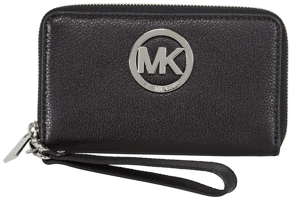 75e6d7dd5603 Michael Kors Michael Kors Fulton Large Flat Multifunction Phone Case  Black/Silver ...