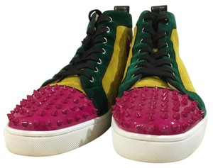 Christian Louboutin Green, yellow, pink and white Athletic