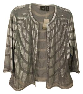 Chico's Jacket Margo Travel Collection Top Silver