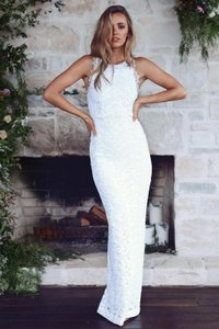 Grace Loves Lace Ivory French Nia 2.0 Sexy Wedding Dress Size 4 (S)