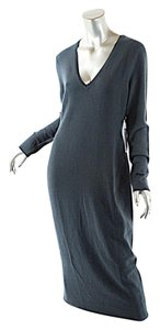Christopher Fischer short dress Teal Blue Cashmere Stretch Knit on Tradesy
