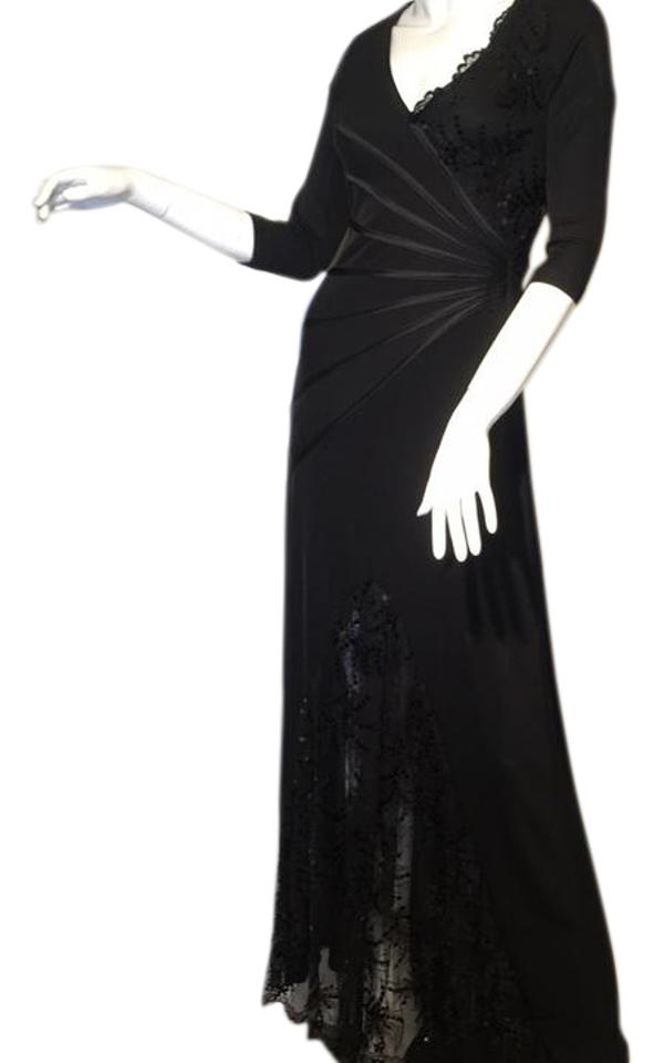 Neiman Marcus Blacked No Number Long Formal Dress Size 6 (S) - Tradesy