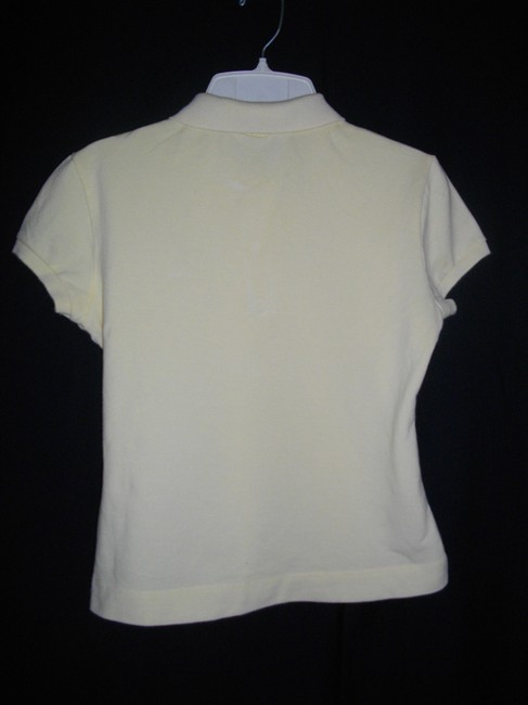 Lacoste Polo Style 3 Button Placket Top Yellow