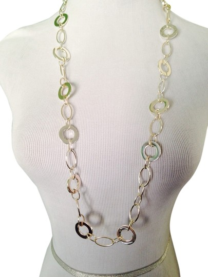 Other Silver-Tone Multi-Size Circles Long Necklace