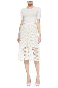Lela Rose New Skirt White