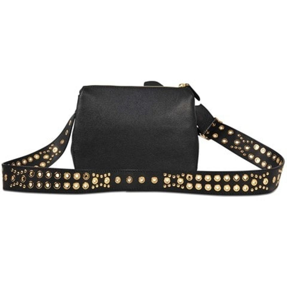 5e4f16d8d80f Burberry Helmsley Rivet House Check Black Leather Cross Body Bag ...