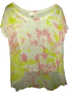 Band of Gypsies Top White yellow pink