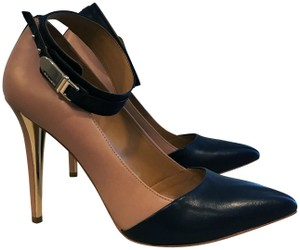 Coach Leather Ankle Strap Flattering Style Excellent Condition Two toned black and nude Pumps