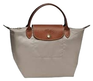 25dd8cf92bf Longchamp Le Pliage Top Handle Lightweight Limited Edition Sold Out Tote in  Clay. Longchamp Le Pliage Small / Mini Handbag Clay Leather and Nylon Tote