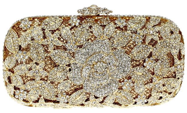 Item - Evening Gold Crystal Satin Clutch