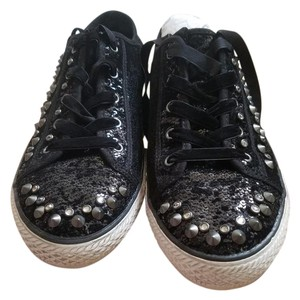 dbbcd0d50205 Ash Sneaker Studded Velvet Sequin Gems Black Athletic