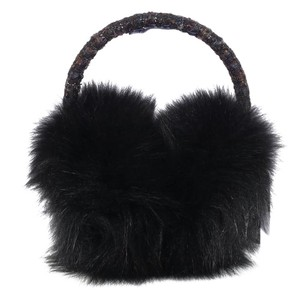 Chanel Black Fur Earmuffs