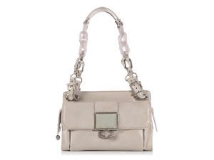 Balenciaga Bg.l0616.14 Stingray Resin Chain Silver Shoulder Bag