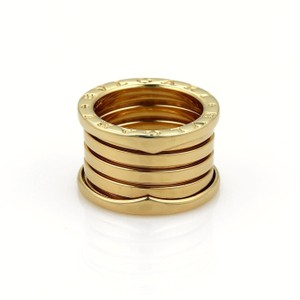 BVLGARI Bulgari B Zero-1 18k Yellow Gold 13mm Wide Band Ring Size 50-US 4.5