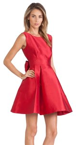 f29ec47cb25 Kate Spade Dynasty Red Shanghai Bow Open Back Silk Mini Cocktail Dress