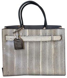 Reed Krakoff Rk40 Rk40 Cobra Skin Rk40 Large Tote in Multicolor Putty Ivory Black