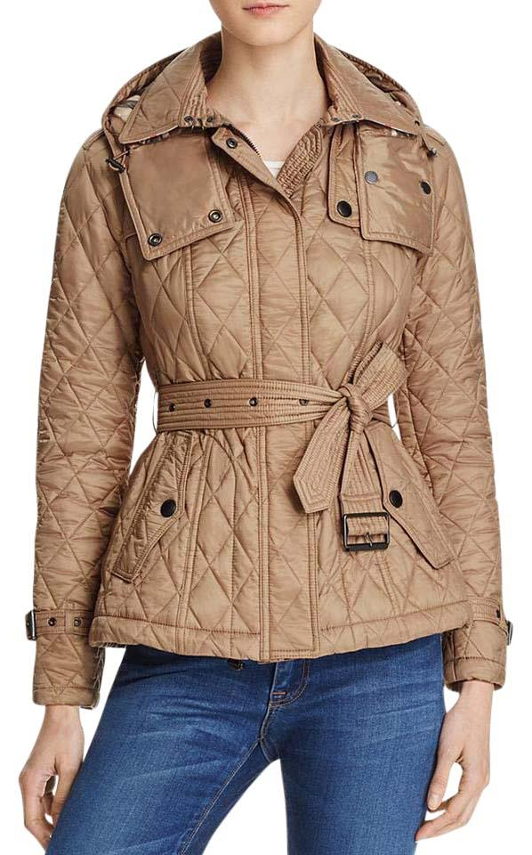 Burberry Pale Fawn Short Finsbridge Quilted Coat Size 12 (L) - Tradesy : burberry quilted trench - Adamdwight.com