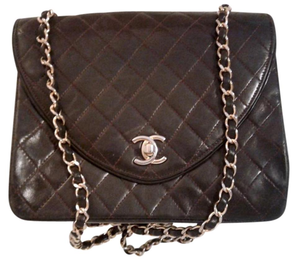 735ff3102365 Chanel Classic Flap Vintage Reverse Cc Logo Quilted Square Medium M ...