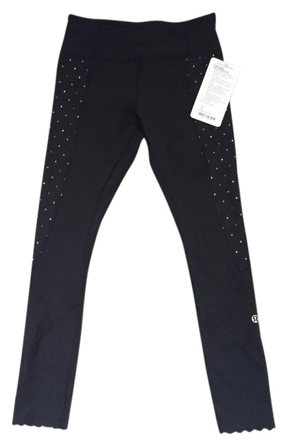 Item - Black with Silver & Gold Tight Stuff Tight Reflective Special Edition Activewear Bottoms Size 4 (S, 27)