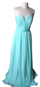 Mint Crinkle Chiffon Style # 20421 Formal Bridesmaid/Mob Dress Size 6 (S)